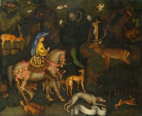 Pisanello, Το όραμα του Αγίου Ευσταθίου, 1438-42. Λονδίνο, Εθνική Πινακοθήκη.