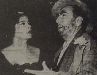 Τζένη Καρέζη, Διονύσης Παπαγιαννόπουλος. Πηγή: Τα Νέα, 4/10/1963.