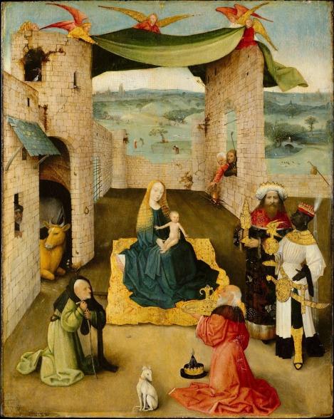 Η προσκύνηση των μάγων. Ιερώνυμος Μπος, 1470 περίπου. Μητροπολιτικό Μουσείο Νέας Υόρκης.