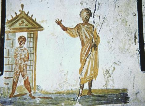 Ἡ ἀνάσταση τοῦ Λαζάρου στὴν κατακόμβη τῆς Πρίσκιλλα. ρώμη, 2ος αἰ.